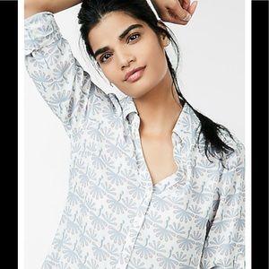 Express Portofino slim fit patterned blouse S